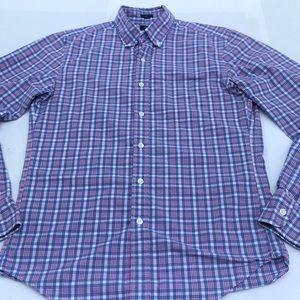 blu/red/white, longsleeve dress shirt